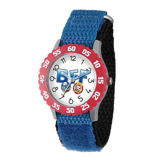 Marvel Emoji Marvel Boys Blue Strap Watch-Wma000092