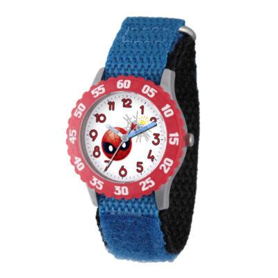 Emoji Marvel Boys Blue Strap Watch-Wma000095