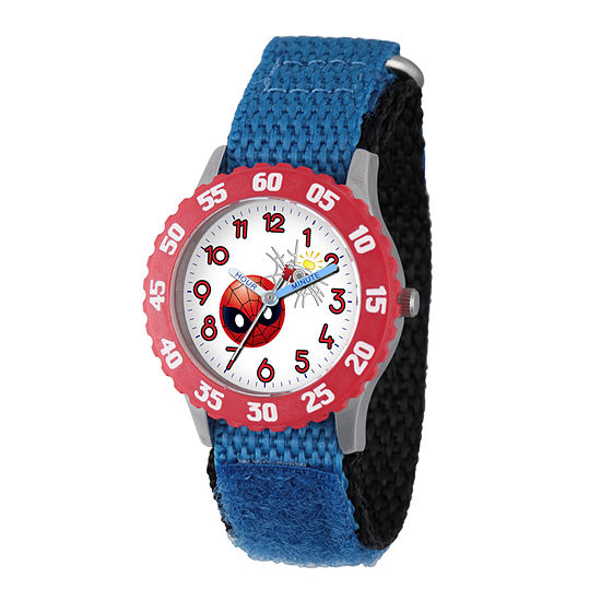 Marvel Emoji Marvel Boys Blue Strap Watch-Wma000095