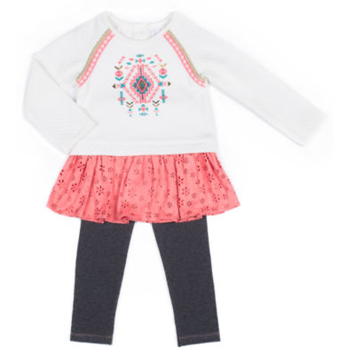 Little Lass 2-pc. Pant Set Baby Girls