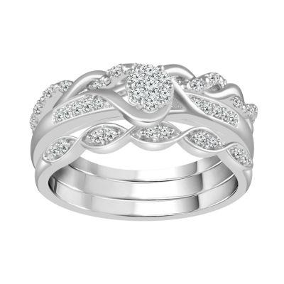 Womens 1/4 CT. T.W. White Diamond 10K Gold Bridal Set