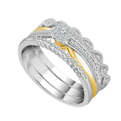 Womens 1/4 CT. T.W. White Diamond 10K Gold Bridal Set