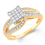 Womens 1/2 CT. T.W. Genuine White Diamond 10K Gold Engagement Ring