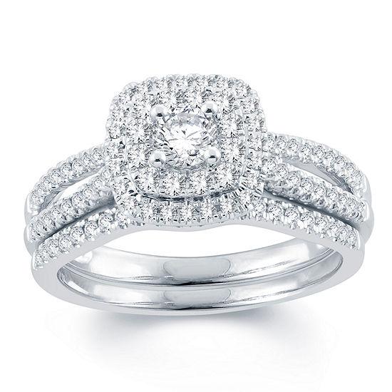Modern Bride Signature Womens 3 4 Ct T W Genuine White Diamond