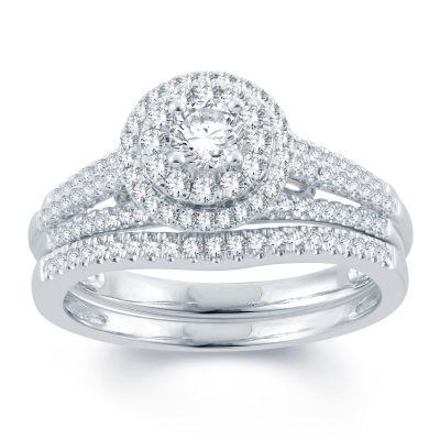 Modern Bride Signature Womens 3/4 CT. T.W. White Diamond 14K Gold Bridal Set