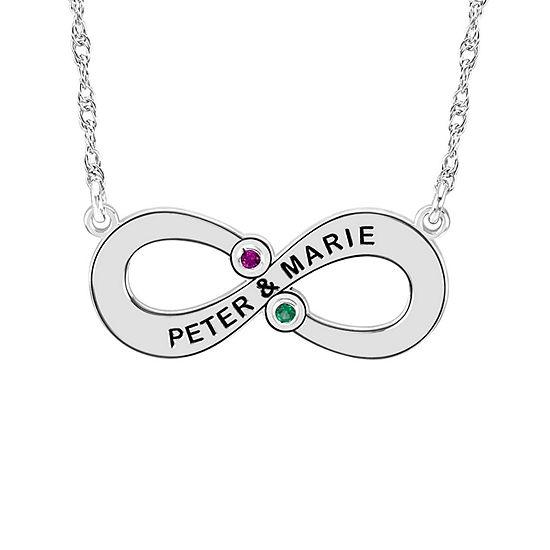 Womens Multi Color Stone 10k Gold Round Pendant Necklace