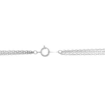 Womens 1/7 CT. T.W. White Diamond Sterling Silver Strand Necklace