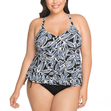 jcpenney.com | St. John's Bay Tankini Swimsuit Top or Adjustable Brief Bottom-Plus
