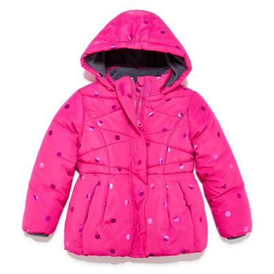 Okie Dokie Heavyweight Dots Puffer Jacket - Girls-Preschool