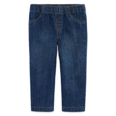 Okie Dokie Denim Pull-On Pants - Baby Boy NB-24M