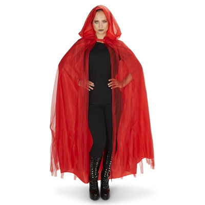 Hooded Lined Red Womens 2-pc. Dress Up Accessory