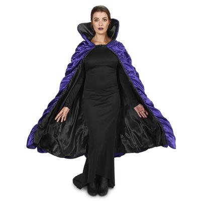 Purple & Black Reversible Adult Cape