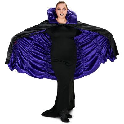 Purple & Black Reversible Adult Plus Cape