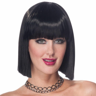 Vibe - Black Wig Womens Dress Up Accessory