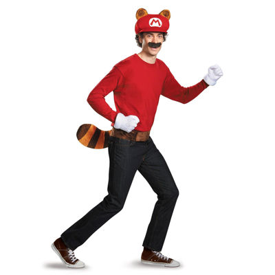 Super Mario Brothers Mario Raccoon Adult Kit