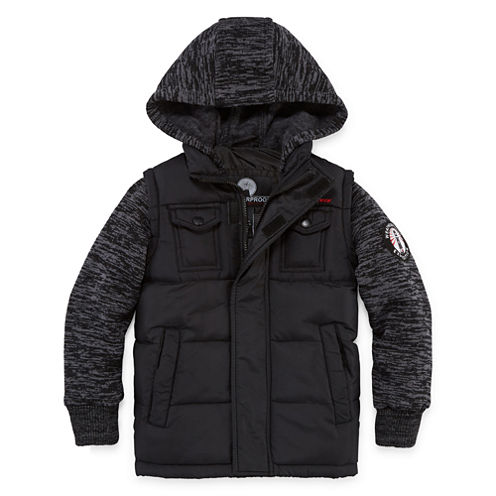 Weatherproof Vest with Sleeves Jacket - Boys Big Kid