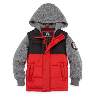 Weatherproof Vest with Sleeves Jacket - Boys Preschool
