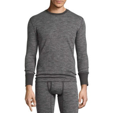 Fruit Of The Loom Thermal Crew Neck Long Sleeve Shirt