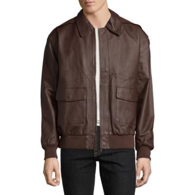 Vintage Leather Aviator Bomber Jacket