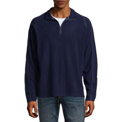 City Streets Mens Mock Neck Long Sleeve Quarter-Zip Pullover