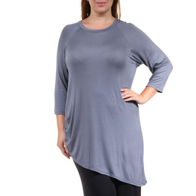 24/7 Comfort Apparel Side-Cinched Tunic Top Plus