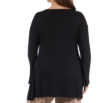 24/7 Comfort Apparel Side-Cinched Tunic Top-Plus
