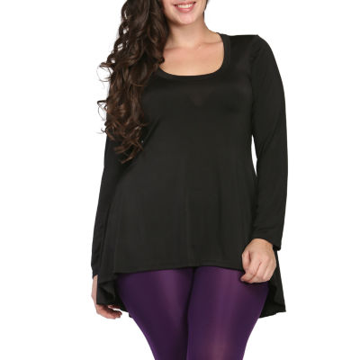 24/7 Comfort Apparel High-Low Tunic Top Plus