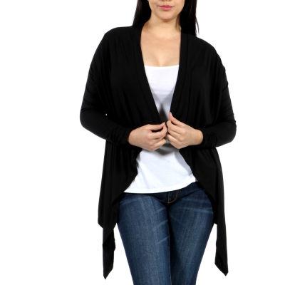 24/7 Comfort Apparel High-Low Shrug Cardigan Plus