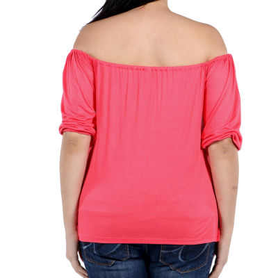 24/7 Comfort Apparel Sweetheart Tunic Top Plus