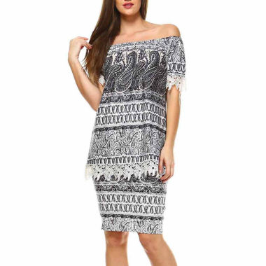White Mark Print From Tip To Toe Set 2-pc. Skirt Set