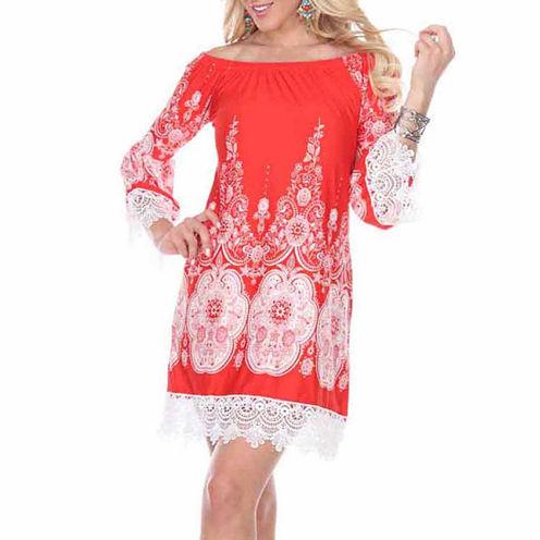 White Mark Mya Paisley Sheath Dress