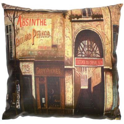 Oriental Furniture Parisian Caf?? Throw Pillow