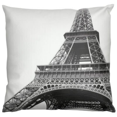 Oriental Furniture Eiffel Tower Throw Pillow