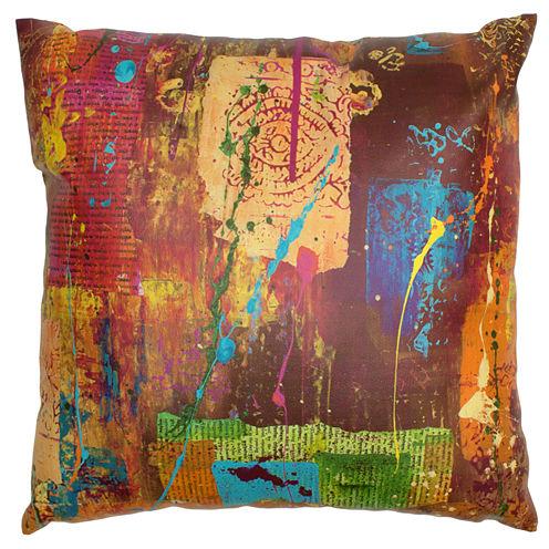 Oriental Furniture India By Gita Throw Pillow