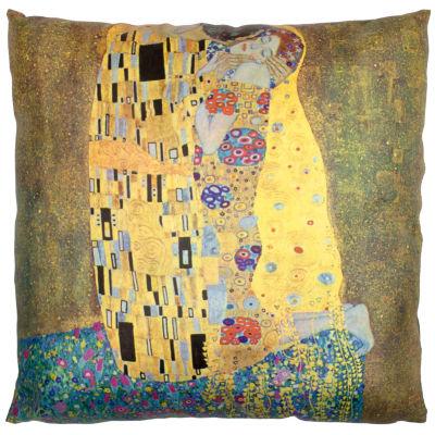 Oriental Furniture Klimt The Kiss Throw Pillow