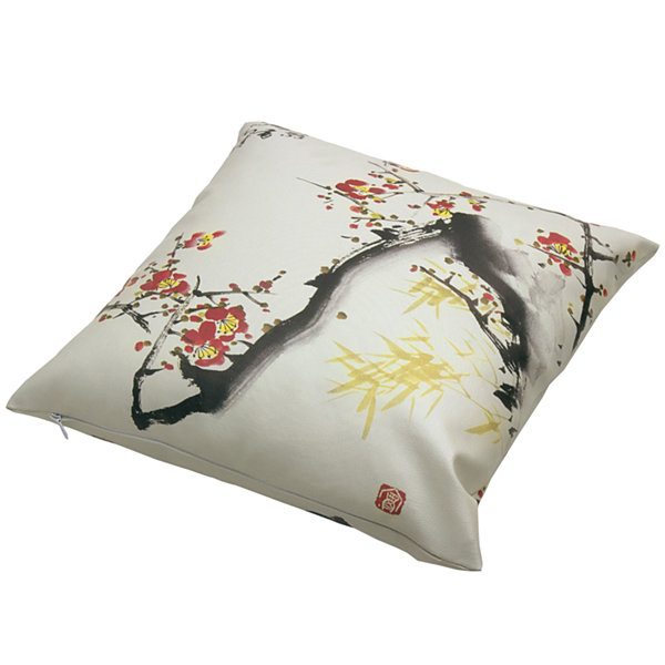 Oriental Furniture Cherry Blossom Throw Pillow