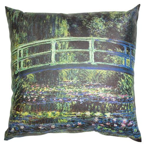 Oriental Furniture Monet Bridge At Giverny Throw Pillow