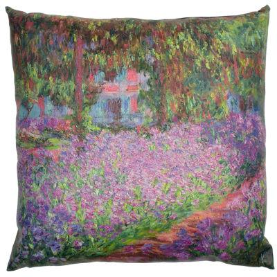 Oriental Furniture Monet Irises Throw Pillow