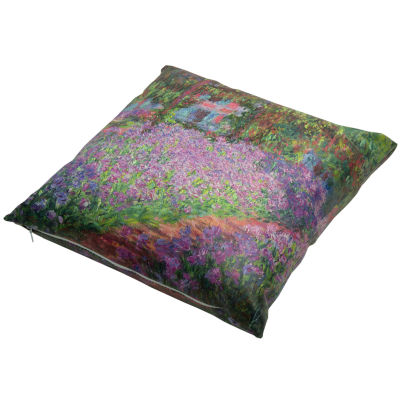 Oriental Furniture Monet Irises Throw Pillow