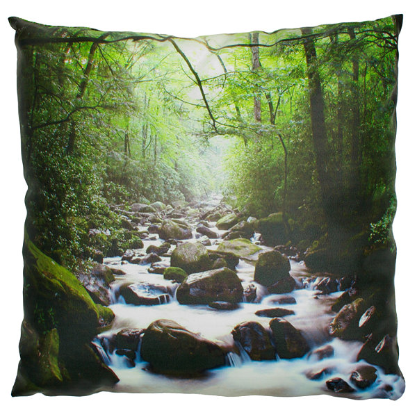 Oriental Furniture River Of Life Throw Pillow