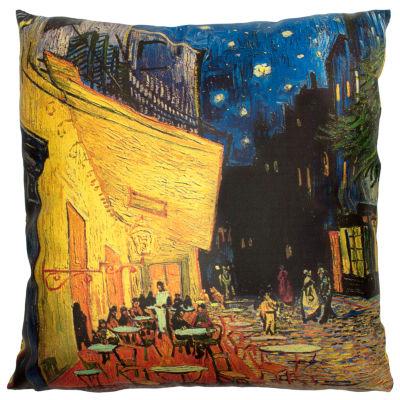 Oriental Furniture Van Gogh Café At Night Throw Pillow