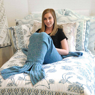 Mermaid Knit Midweight Throw