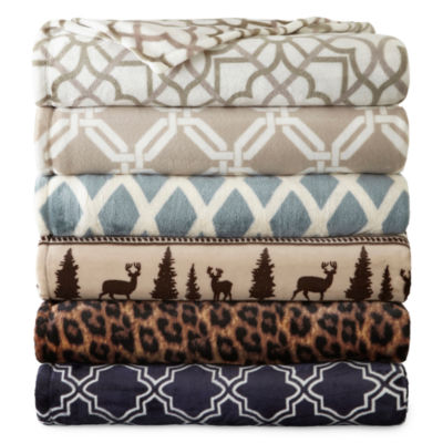JCPenney Home™ Velvet Plush Print Blanket
