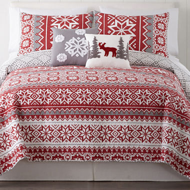 North Pole Trading Company Holiday 3-pc. Quilt Set & Accessories ... : jcpenney quilts on sale - Adamdwight.com
