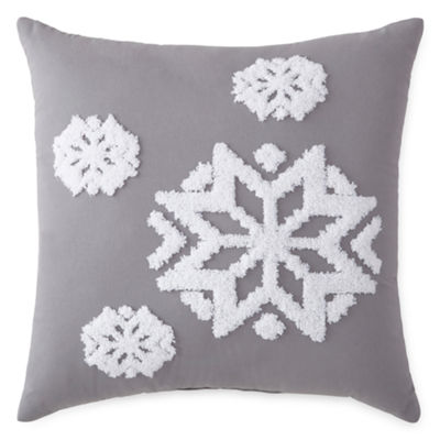 North Pole Trading Company Holiday Snowflake Pillow