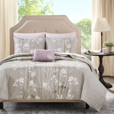 Madison Park Fulton Floral Coverlet Set