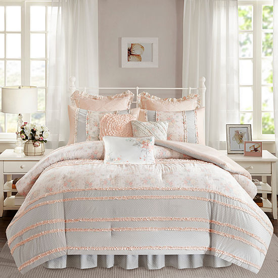 Madison Park Harmony Cotton Percale Comforter Set