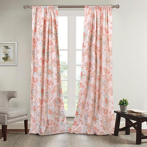 Mga Cordelia Rod-Pocket Curtain Panel