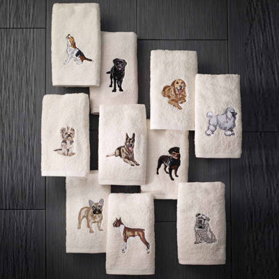 Avanti 2pk Dog Bulldog 2-pc. Embroidered Hand Towel