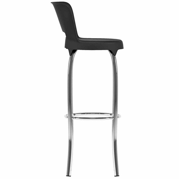Black And Chrome Bar Height Bar Stool